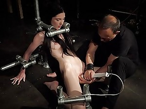 Restrain bondage Teen in Hard BDSM punishment naughty Kinky