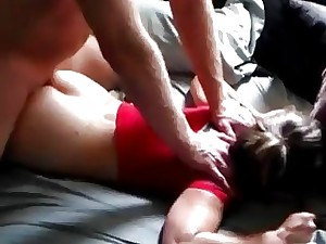 Insane son forcefully plows a torrid Milf while she sleeps