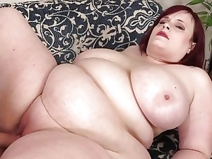 Giant Tit Fat Girl Asstyn Martin Masturbates Then Gets Romped