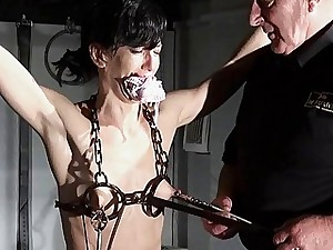 Hardcore bdsm and electrified punishments of super-naughty