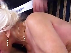 The golden shower hour with insane granny a youthfull stud