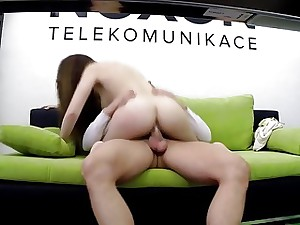 Kinky slut rails her bosses stiff dick