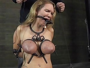 Breasty sweetie loves getting bizarre pussy torment