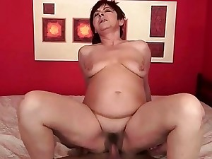 Ultra-kinky granny inhaling and railing young cock