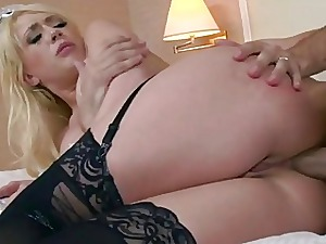 Hotelmaid Kagney anal reamed at the end of one's tether customer