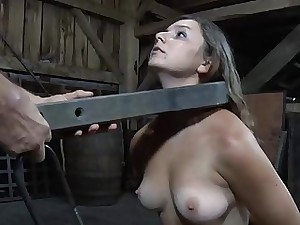 Breasty lady likes getting freaky pussy torture