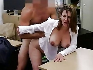 Business woman banged for a flat ticket