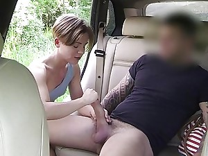 Alluring traveller banged surrounding eradicate affect backseat