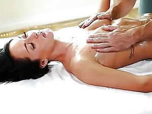 Rub down close to an increment of hardcore cavorting close to standoffish masseur