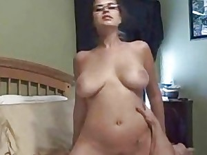 Inexpert Beauty On touching Glasses Cowgirl  Mating