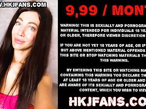 HKJFANS - Hotkinkyjo – extreme anal dildo, gape and prolapse