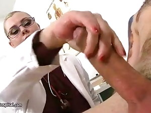 Giant boobs doctor – deep throat and cum