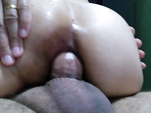 In the ass before bed.