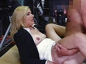 Hot gilded old lady fucked with respect to storage arena